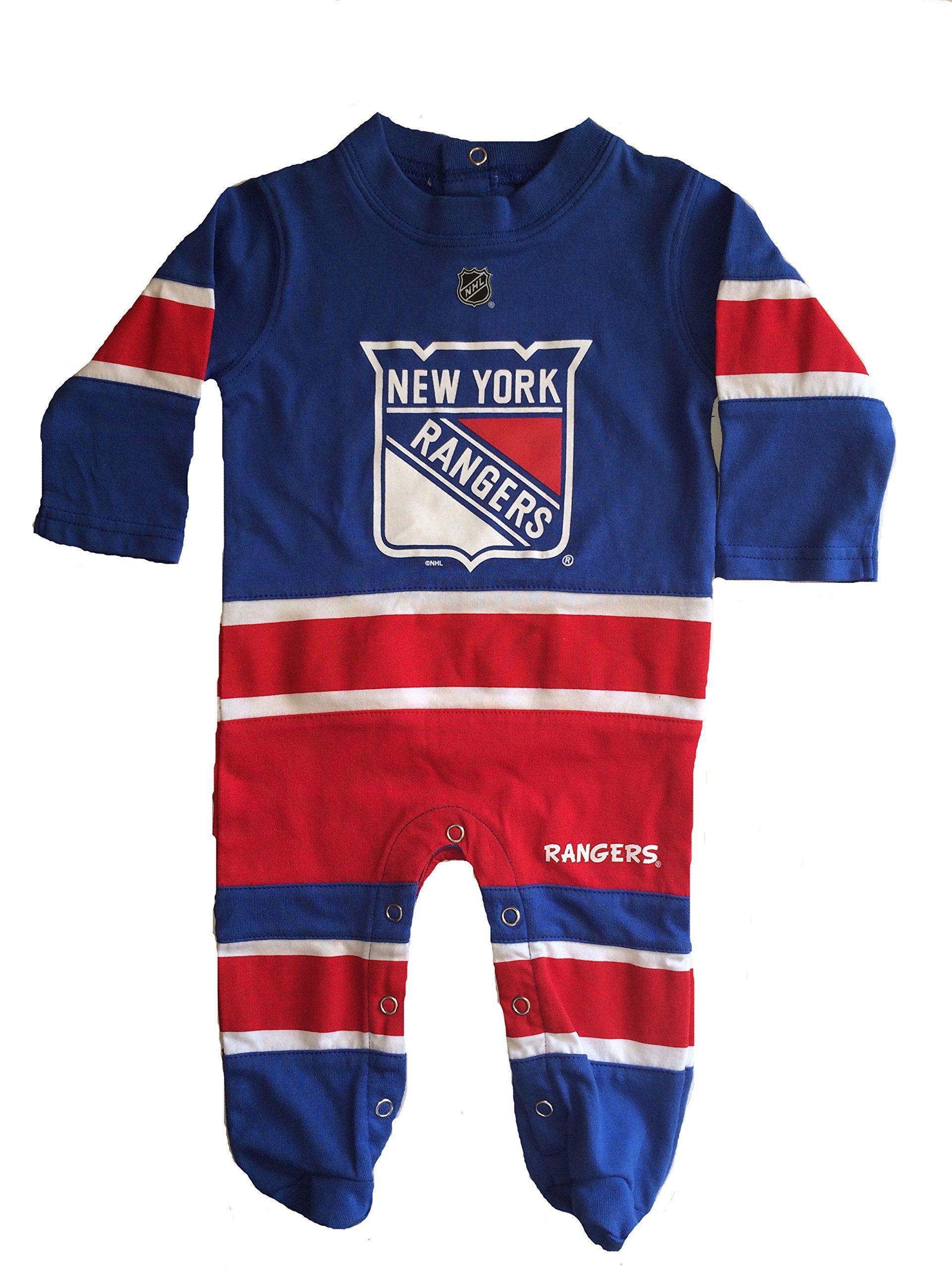 cc3db55ffde NHL Unisex Baby New York Rangers Hockey Footed Pajama, 3-6M | All ...