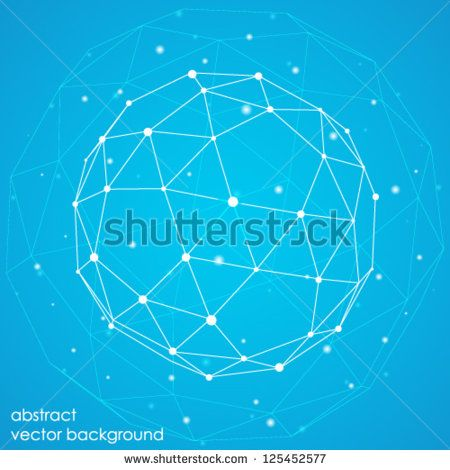 abstract connection points and lines on a blue background