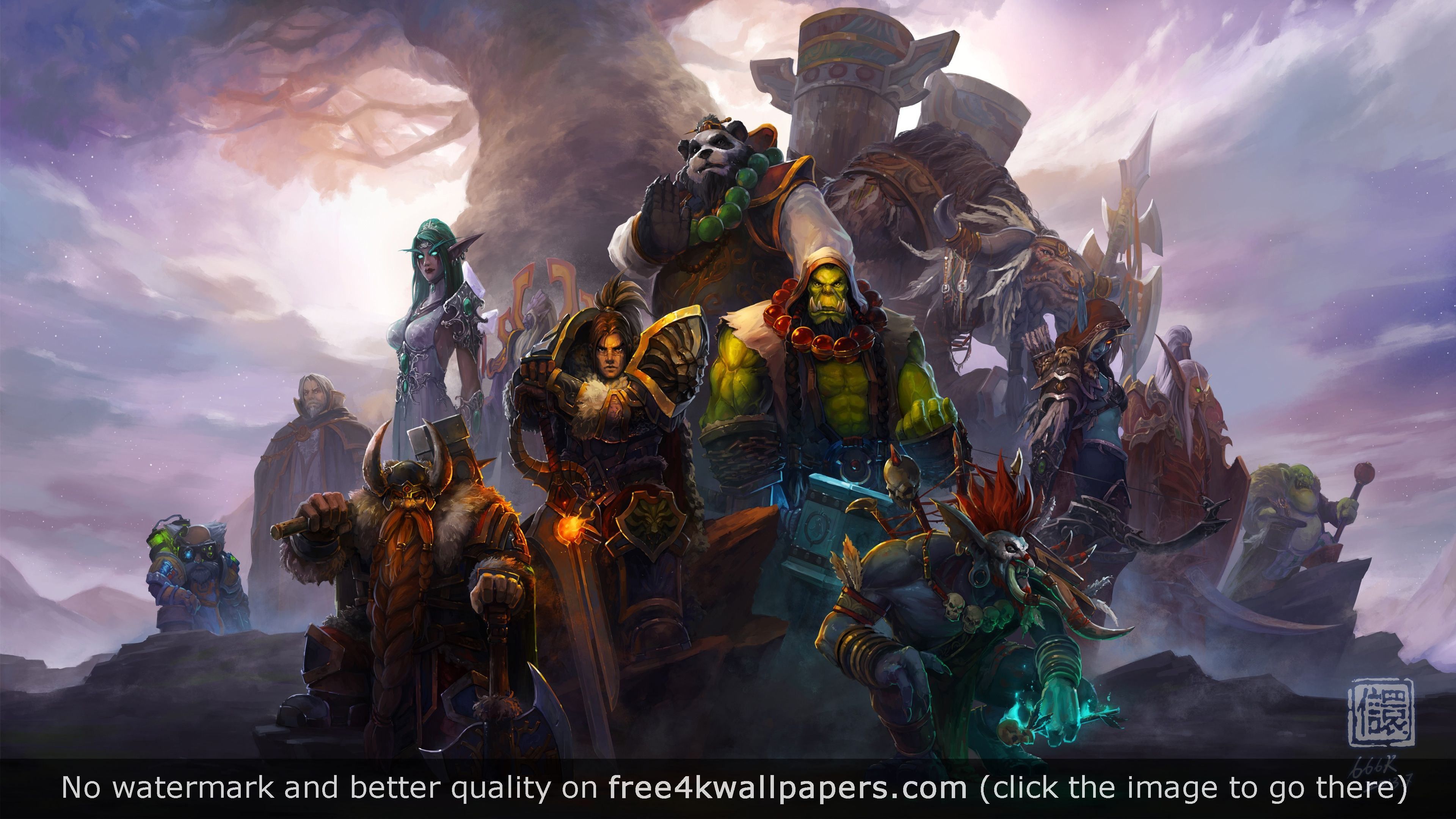 World Of Warcraft Characters 4k 4k Wallpaper World Of Warcraft