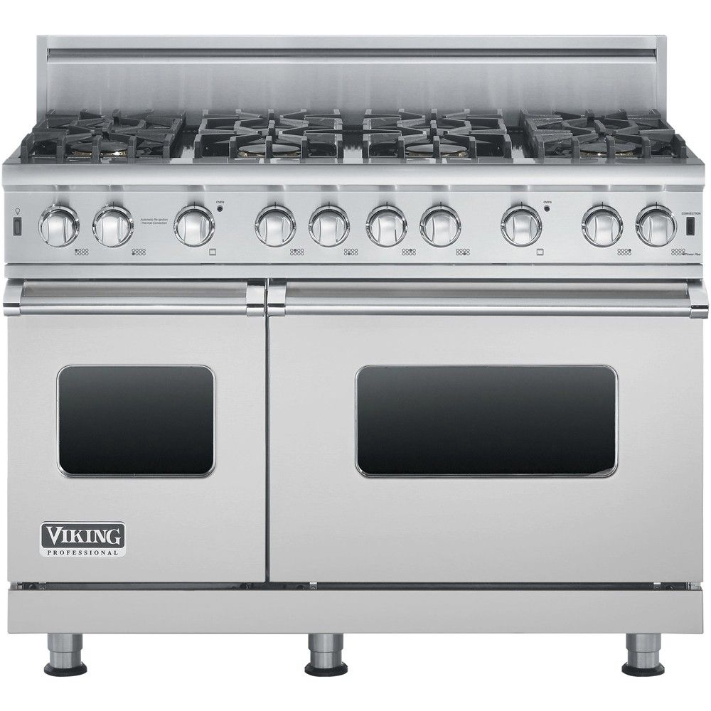 Viking - Freestanding Double Oven Gas Convection Range - Stainless steel - Front_Zoom