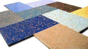 Cork Rubber Flooring By Zandur Is Made Up Of 65 Recycled And 35
