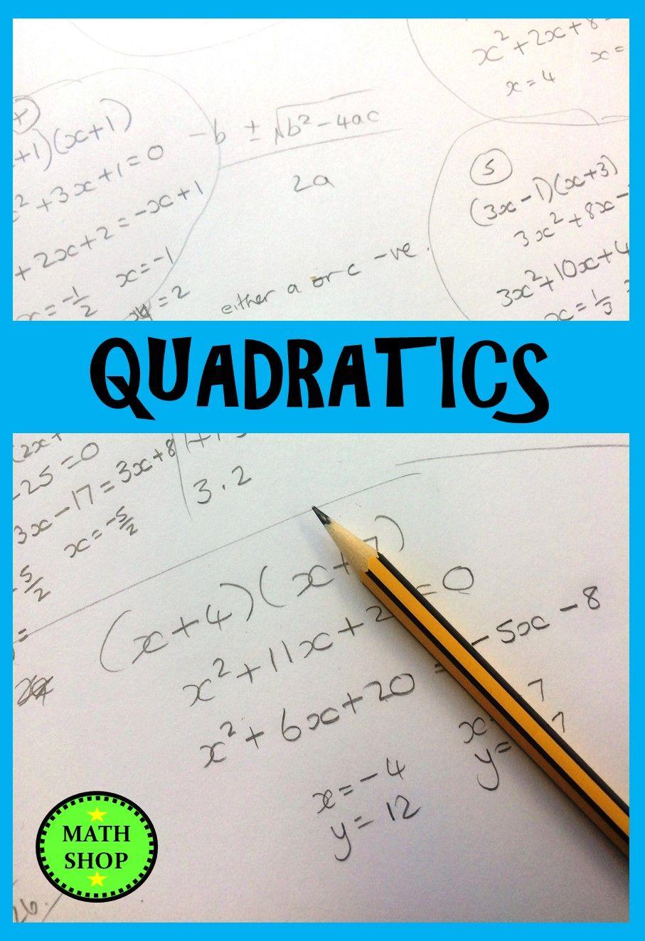 Solving Quadratic Inequalities Quadratic Equations And Quadratic Simultaneous Equations Printable Math Quadratics Solving Quadratic Equations Secondary Math [ 1323 x 907 Pixel ]