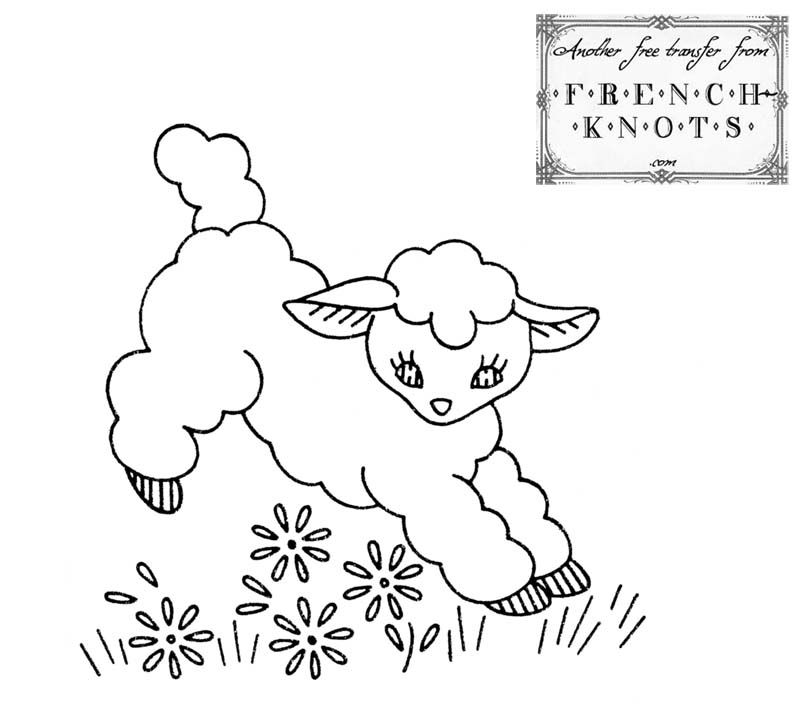 Hand Embroidery Patterns Free Printables Free Vintage Baby Lamb