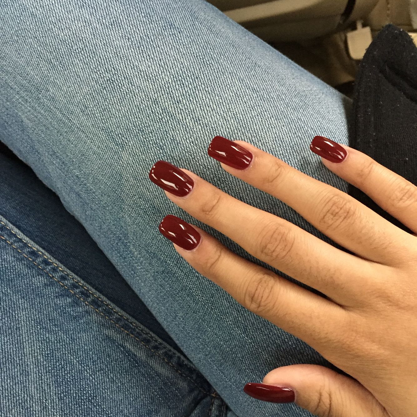 Squoval Long Nails Wine Red Squoval Acrylic Nails Red Gel Nails Red Acrylic Nails