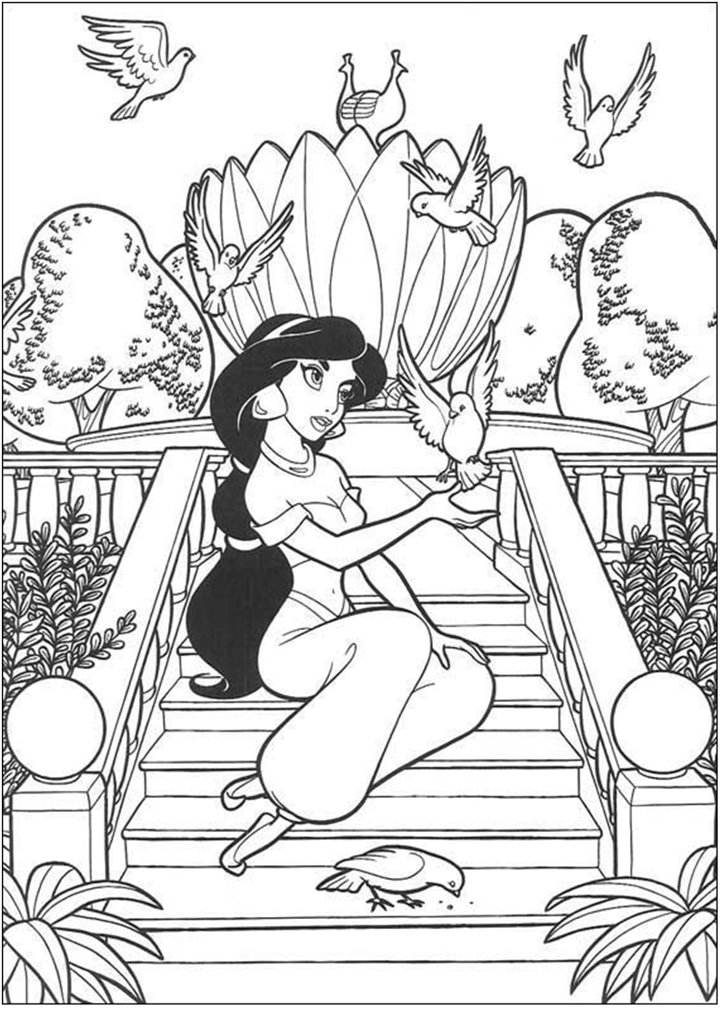 Aladdin Coloring Page Princess Coloring Pages Disney Princess Coloring Pages Princess Coloring