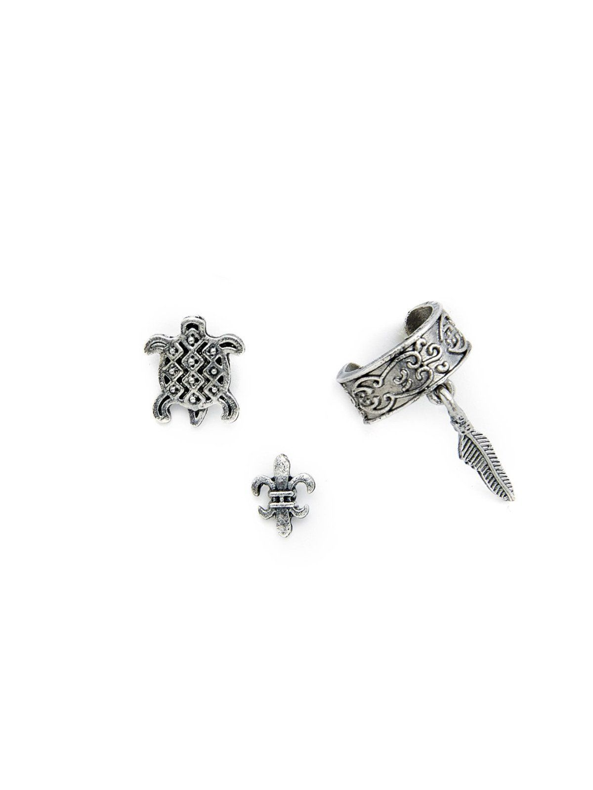 No stone silver colored metal stud perfect choice for casual wear