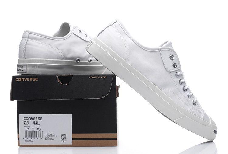 e5016e5b97b8 White Converse Jack Purcell Signature Casual Winter Canvas Low Shoes   converse  shoes