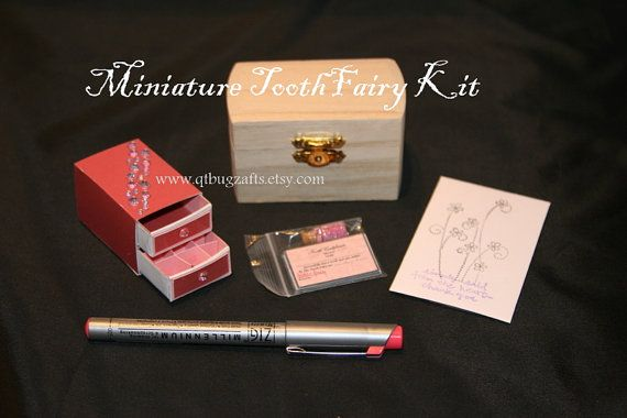 Miniature Tooth Fairy Kit Pink SparkleUnique by QTbugzCrafts, $29.95