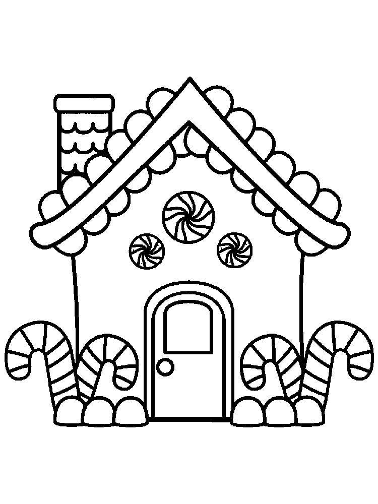 House Coloring Pages For Preschoolers Free Below Is A Collection Of Hous In 2020 Christmas Coloring Sheets Free Christmas Coloring Pages Gingerbread Man Coloring Page