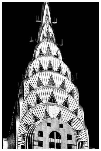 Chrysler building-- iconic art deco building.