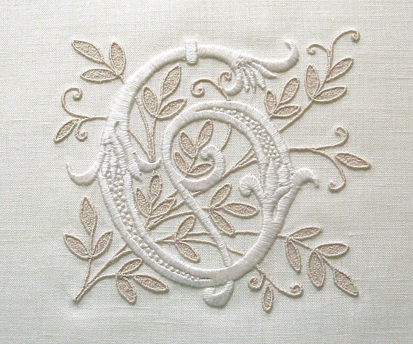 Custom Embroidered Monogram for Weddings Proms Celebrations Personalized Gift Hand Embroidery Machine Embroidery Custom Mono Made to Order
