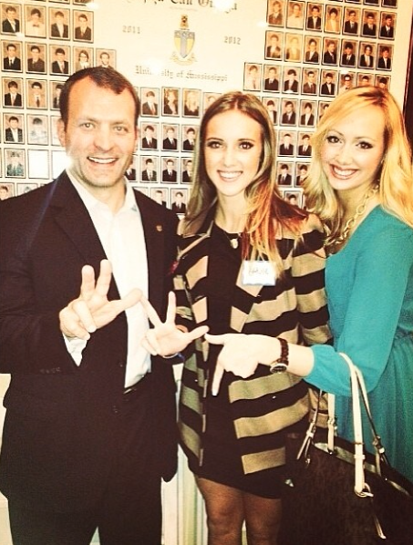 17f2e0c871e3 Gracie & Josephine representing Kappa at the Alpha Tau Omega Leadership  Dinner with guest speaker and athletic director, Mr. Bjork!