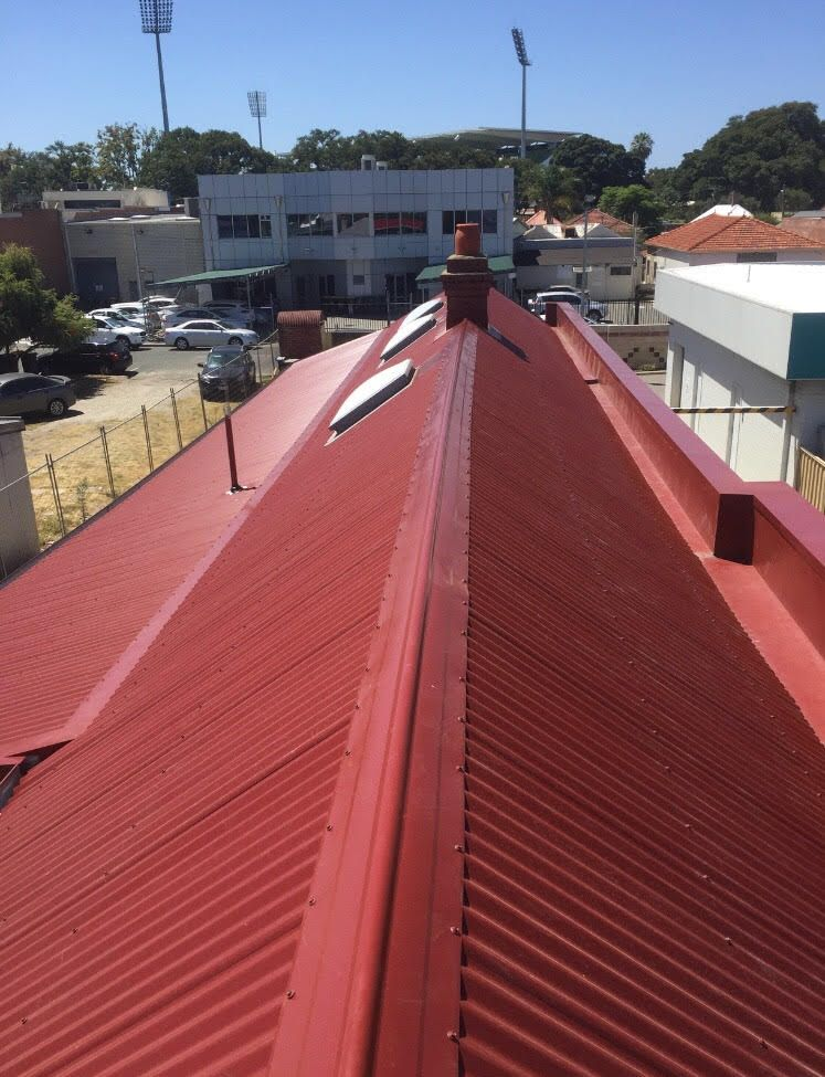 At Smart Roof We Are Specialists In Metal Roof Restoration And Replacement In Perth Our Professionals On Board Roof Restoration Metal Roof Repair Roof Repair