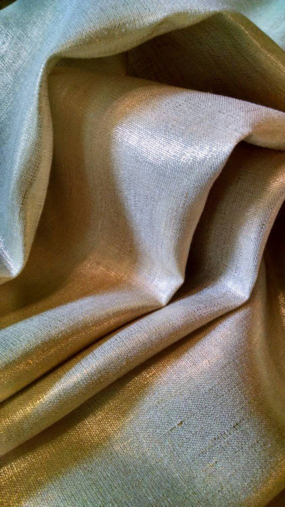 81e2b568fb1f4 100% linen curtains with a shimmering metallic gold finish Available ...