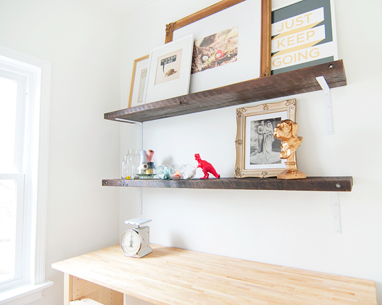 Diy Salvaged Wood Shelves In 10 Steps Yellow Brick Home Diy