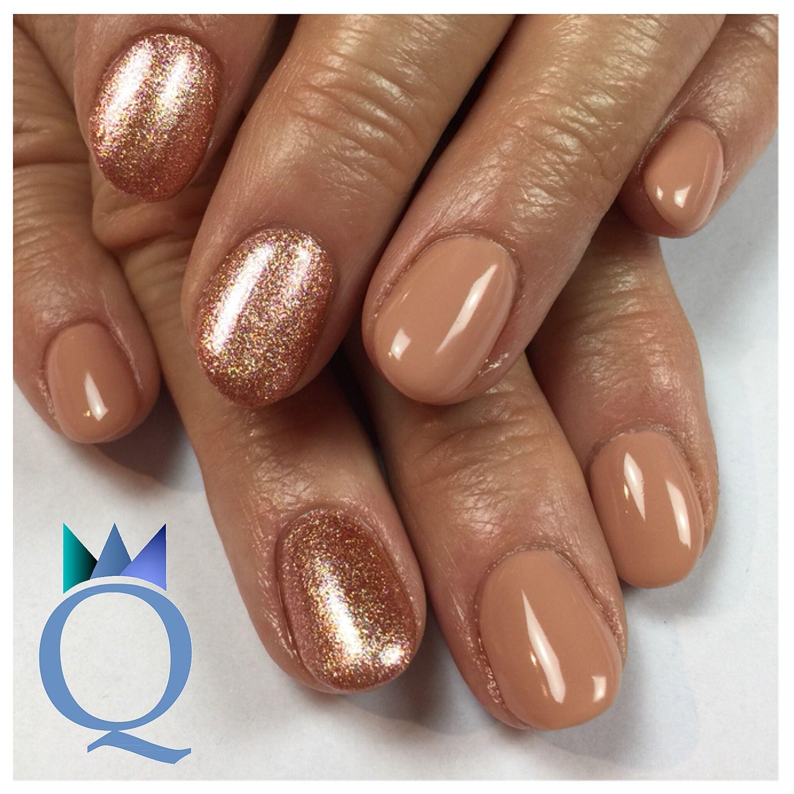 shortnails #gelnails #nails #nude #copper #glitter #kurzenägel ...