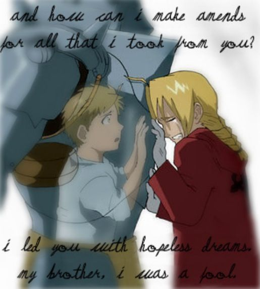 Fullmetal Alchemist Intro Lyrics: His Brother's Soul Bound And Trapped In A Suit Of Armor