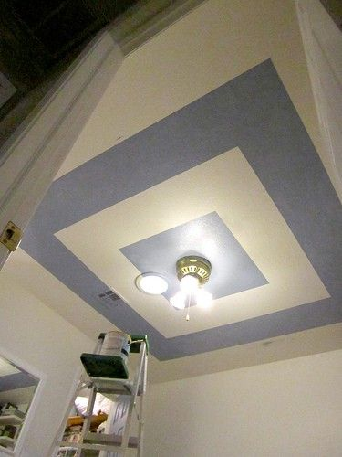 Square Ceiling Paint Home Ceiling Painted Ceiling Ceiling Design