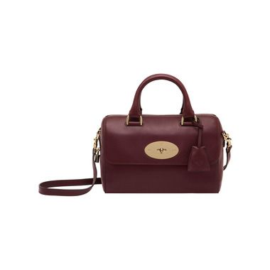 Mulberry - Small Del Rey in Oxblood Silky Nappa