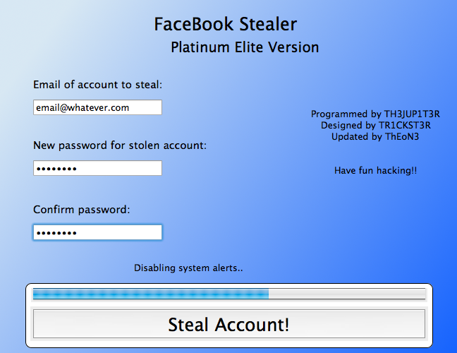 facebook password stealer 2012 free download