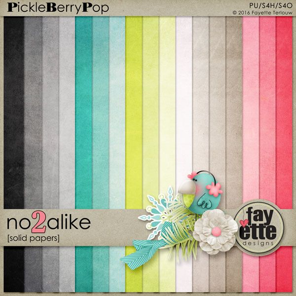 No2Alike Solid Papers By Fayette Designs