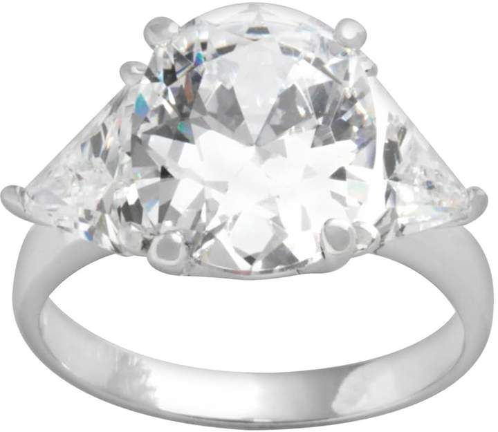 f873464a4 Sterling Silver Cubic Zirconia 3-Stone Ring | Products | Stone rings ...
