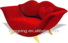 red lip shaped sofa