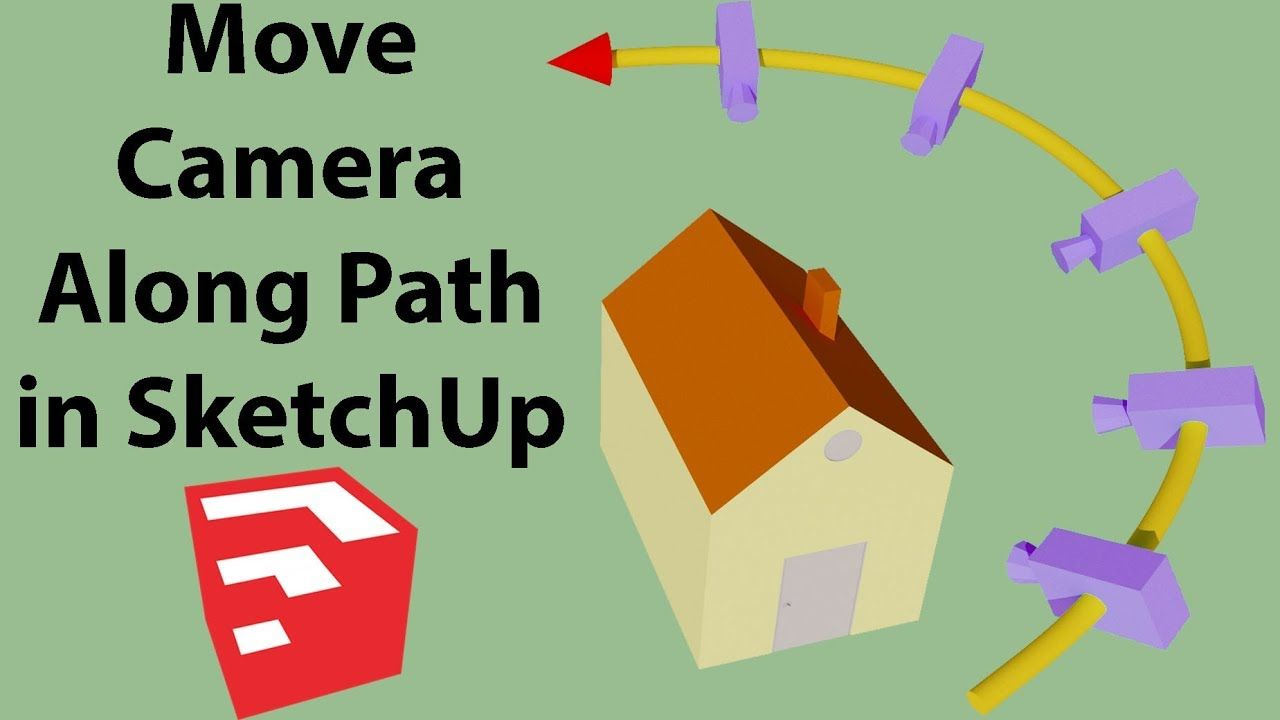 Move Camera Along Path In Sketchup Smooth Animation Youtube