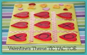How to make a Valentine's tic tac toe theme board for Preschoolers - Busy Mom Monologues