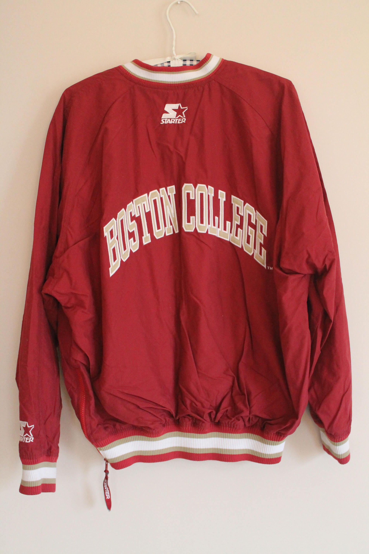 da7f9c09 90's Boston College Eagles Vintage Starter Pullover Jacket Adult Men's Size  M by JordansJunkyard on Etsy