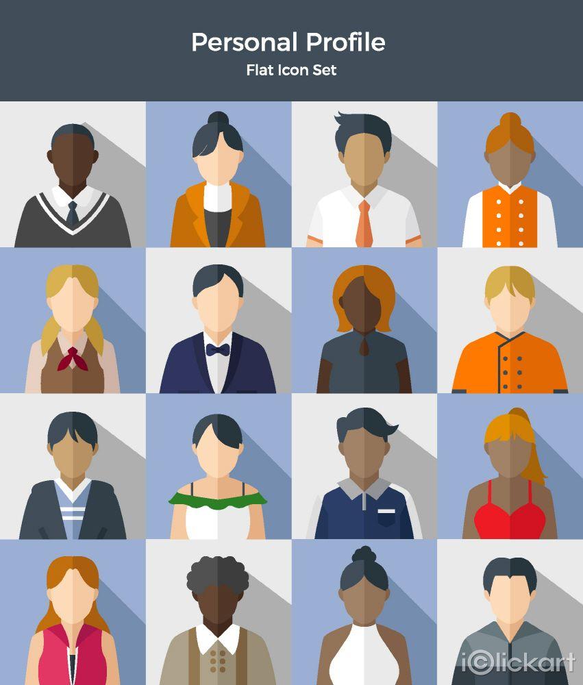 #people #character #icon #illust #stockimage #iclickart #design #personal #profile