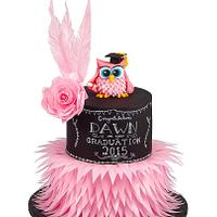 Photo of Chalkboard and Wafer Feather Graduation Owl