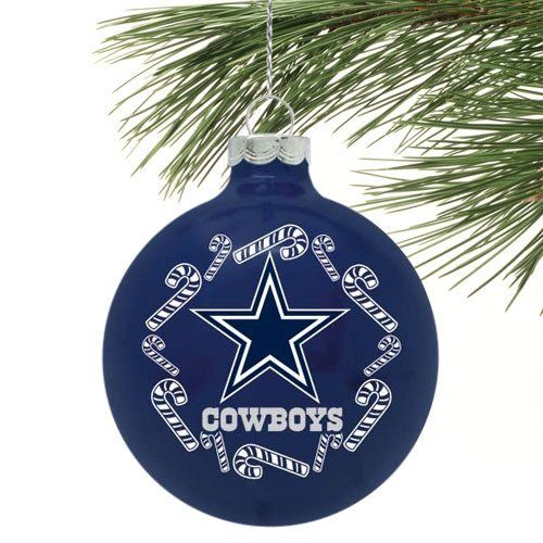 644fde9d3 Dallas Cowboys Candycane Traditional Ornament - Navy Blue