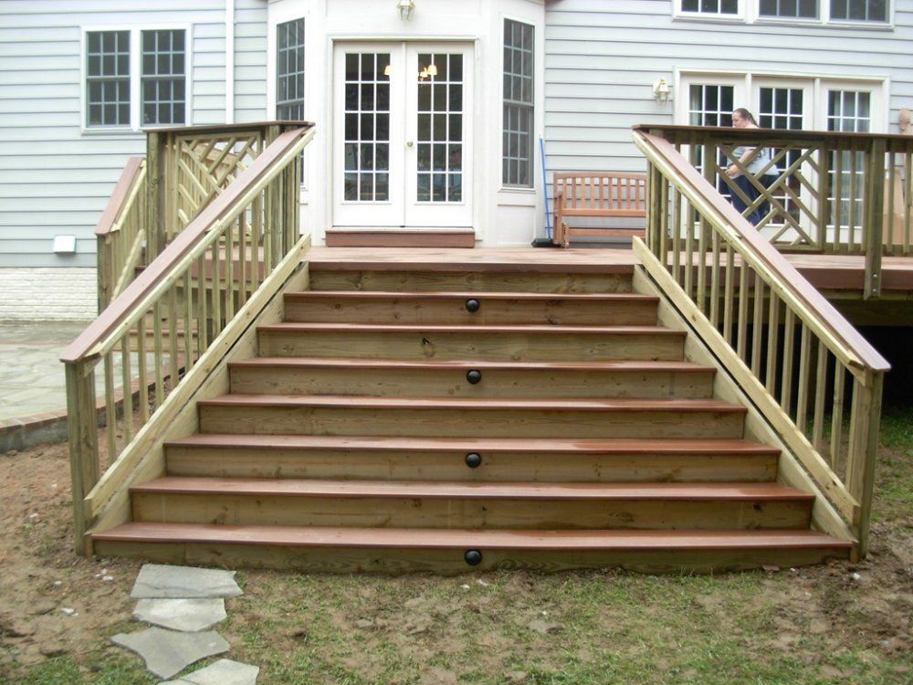 Best Deck Steps With Landing These Deck Stairs Have Lights In The Middle Of Every Other Step 400 x 300