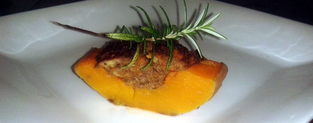 Butternut stuffed with Ostrich mince