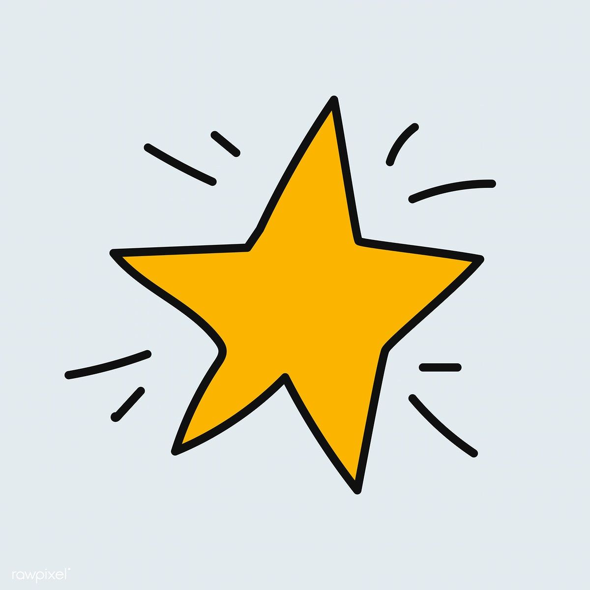 hand drawn yellow star vector | free image by rawpixel.com / adj | vector  free, how to draw hands, free hand drawing  pinterest