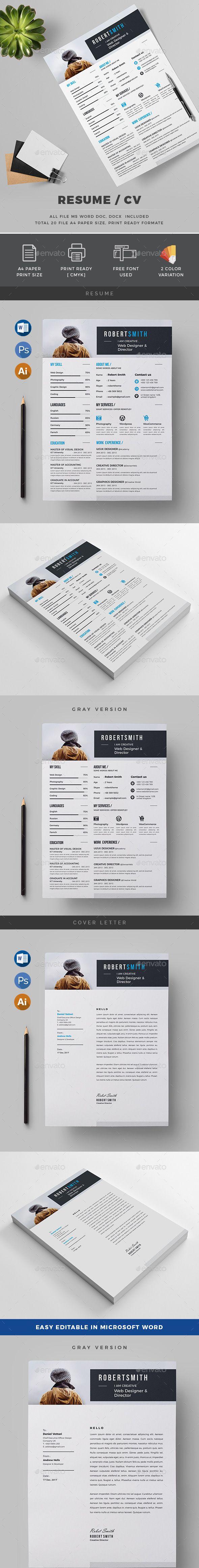 Resume/CV Simple resume template, Resume design template