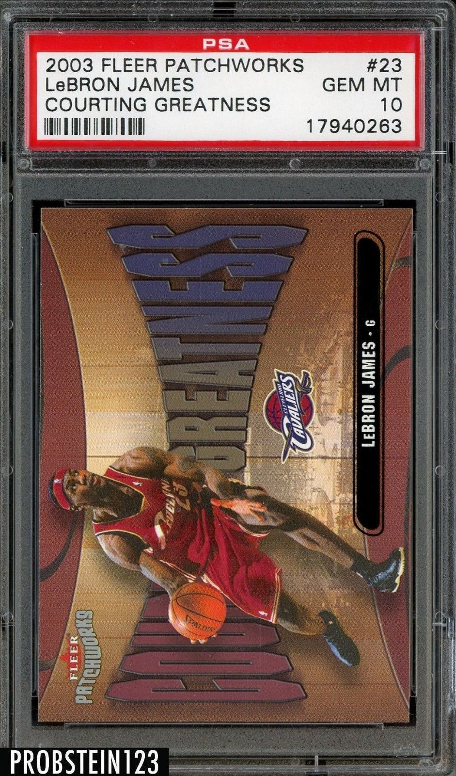 200304 fleer patchworks courting greatness 23 lebron