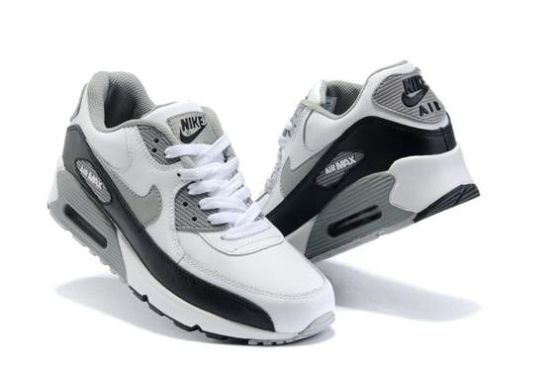 Black · Air Max 90 Mens Shoes Cheap Wholesale Grey White Black