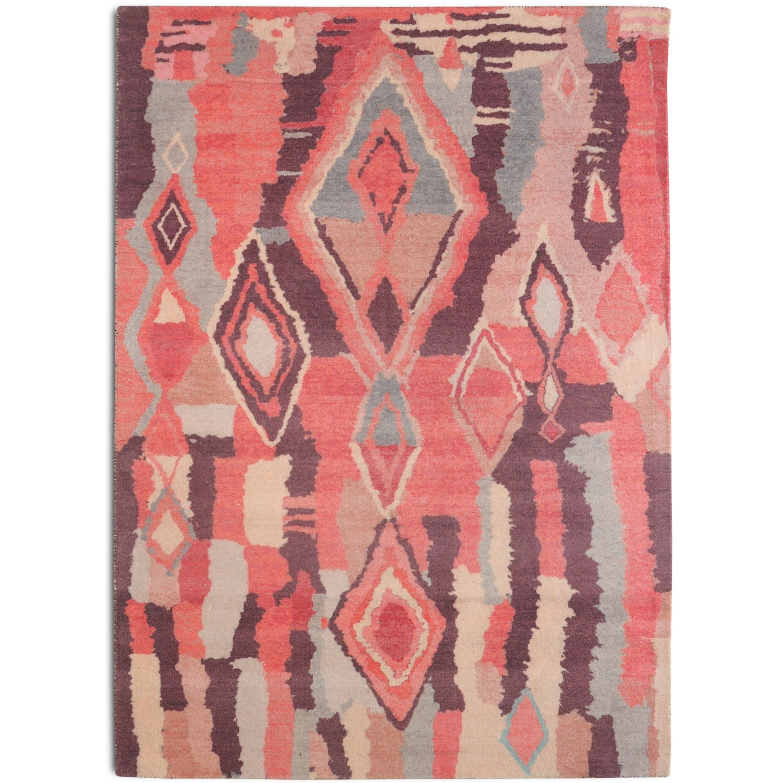 Rugsmith Blush Casablanca Bohemian Geometric Area Rug 7 6 X 9 6 7 6 X 9 6 Blush Pink Geometric Rug Bohemian Geometric Geometric Area Rug