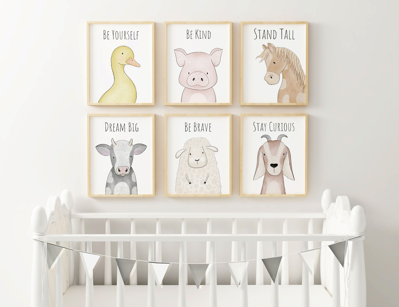 Giraffe Hello Little One Print,Nursery Print Wall Art Quality White Linen Paper