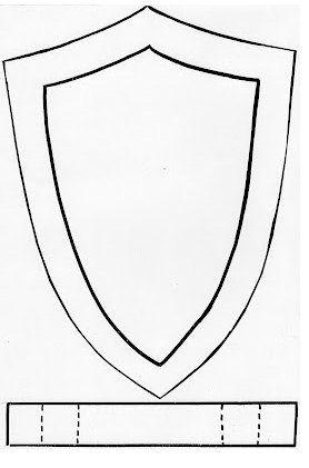 Escudo Heraldico Medieval De Cartulina Escudos Medievales Decoraciones Medievales Escudo