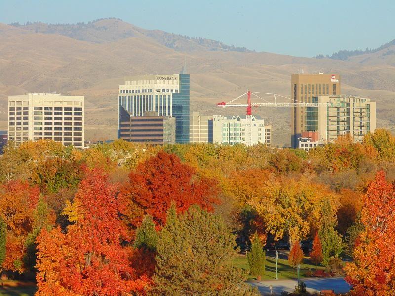 Boise, Idaho. Colorful fall photos