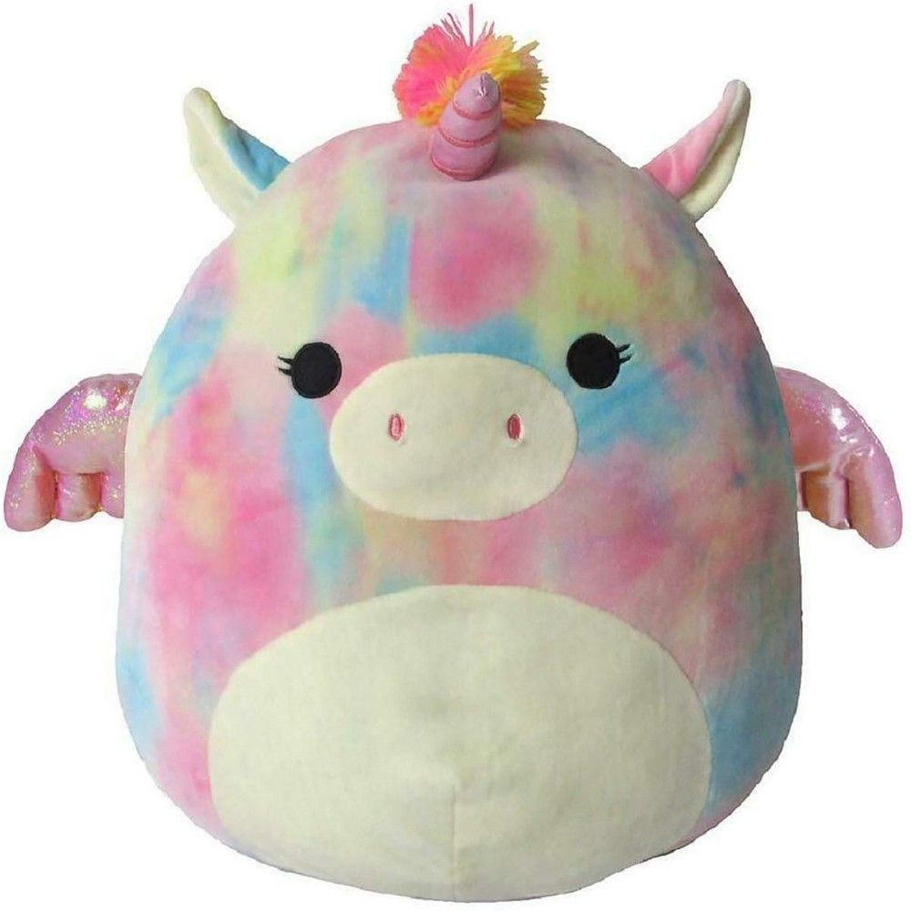 Squishmallows 24 Inch Plush Pink Tie Dye Unicorn Pillow Pals Kids Toy Sale Cute Stuffed Animals