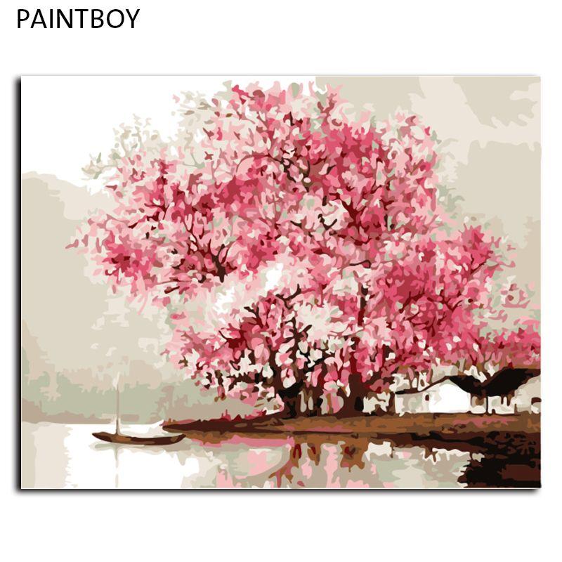 Paisaje abstracto pintura al óleo sin marco de imagen pintura by ...