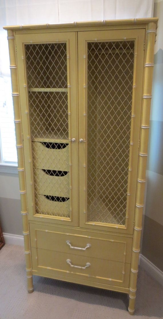 Faux Bamboo Armoire By Thomasville By Caesarshouse On Etsy