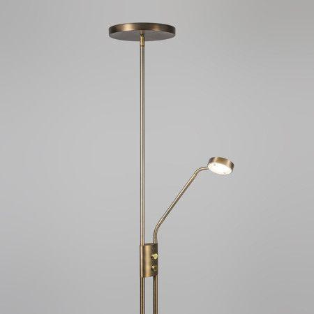 Uberlegen Deckenfluter Jazzy Mit Leseleuchte Rund Bronze #Angebote #Sale #Ausverkauf  #Außenbeleuchtung #Innenbeleuchtung