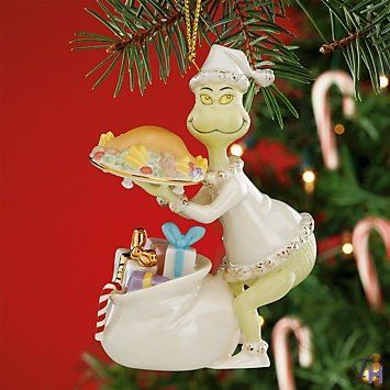 grinch stealing the roast beast ornament by lenox click affiliate link amazoncom on image to review more details - Grinch Christmas Decorations Amazon