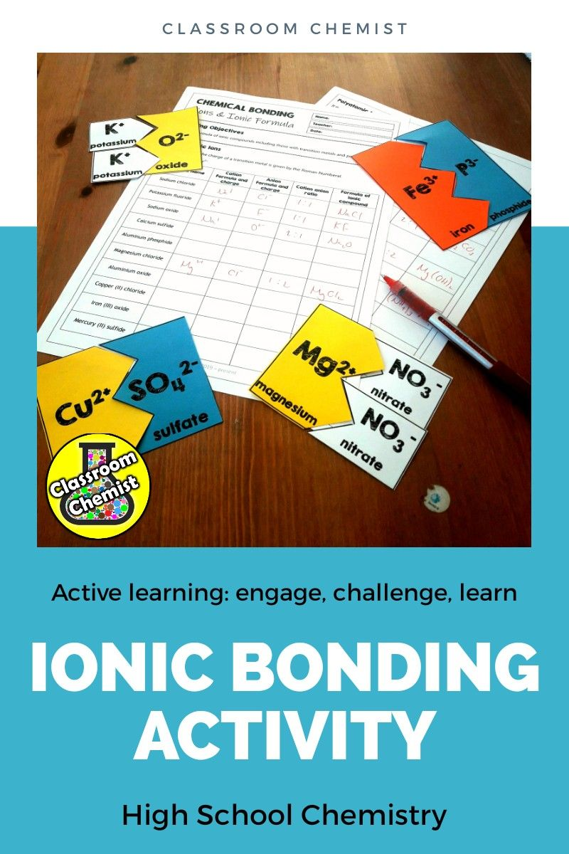 Ionic Bonding Activity And Worksheet Learn To Write Ionic Formula Ionic Bonding Activity Ionic Bonding Bonding Activities [ 1200 x 800 Pixel ]