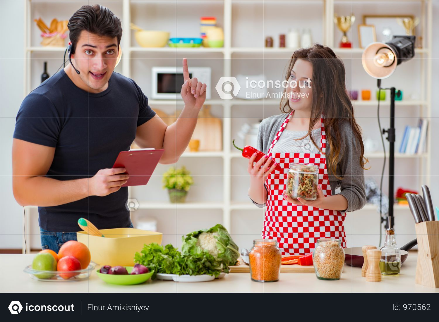 Premium Food Cooking Tv Show In The Studio Photo Download In Png Jpg Format Cooking Tv Premium Food Cooking Recipes